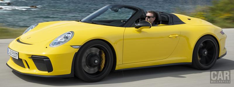 Обои автомобили Porsche 911 Speedster (Racing Yellow) - 2019 - Car wallpapers