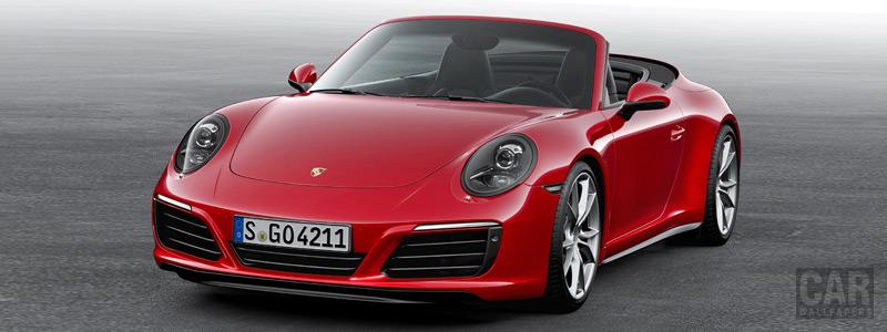 Обои автомобили Porsche 911 Carrera 4 Cabriolet - 2015 - Car wallpapers