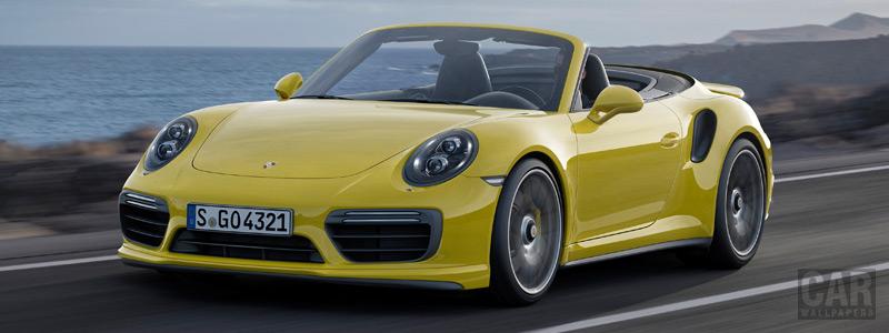Обои автомобили Porsche 911 Turbo S Cabriolet - 2016 - Car wallpapers