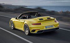 Обои автомобили Porsche 911 Turbo S Cabriolet - 2016