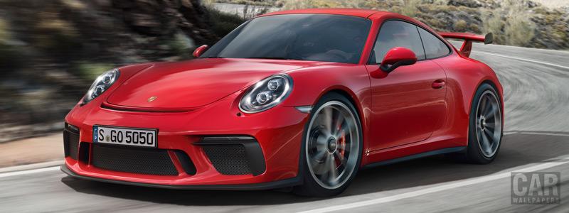 Обои автомобили Porsche 911 GT3 - 2017 - Car wallpapers
