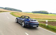 Обои автомобили Porsche 911 Carrera Cabriolet (Gentian Blue Metallic) - 2019