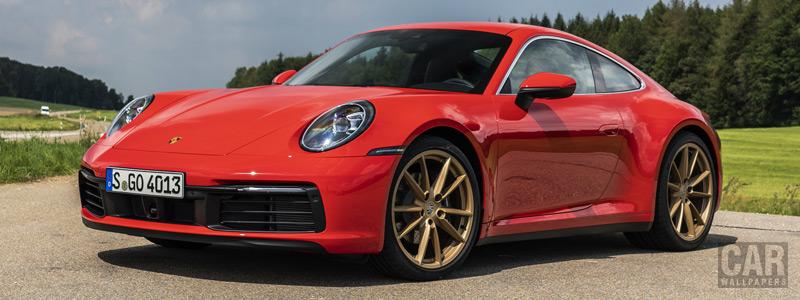 Обои автомобили Porsche 911 Carrera Coupe (Guards Red) - 2019 - Car wallpapers