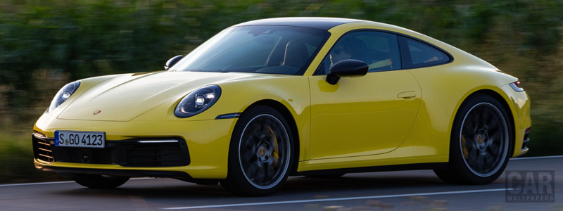 Обои автомобили Porsche 911 Carrera Coupe (Racing Yellow) - 2019 - Car wallpapers