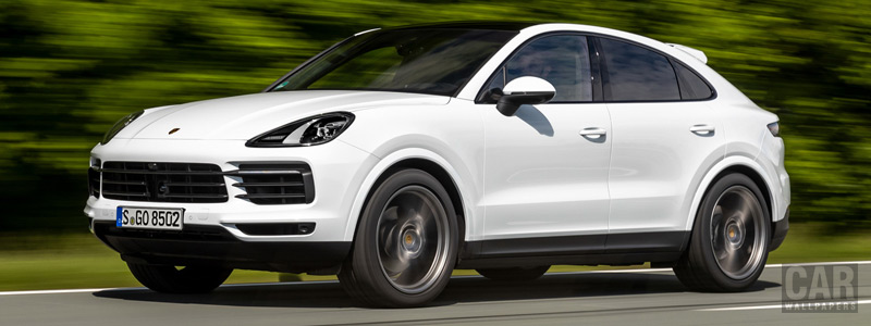 Обои автомобили Porsche Cayenne Coupe (Carrara White Metallic) - 2019 - Car wallpapers