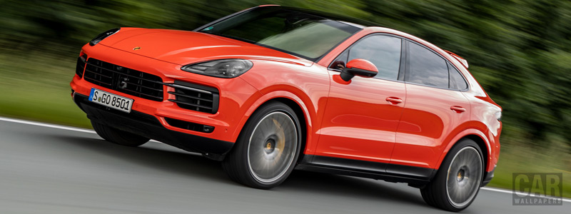 Обои автомобили Porsche Cayenne Coupe (Lava Orange) - 2019 - Car wallpapers