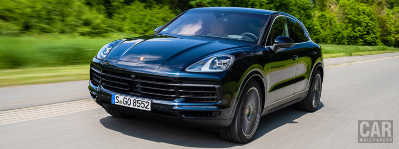 Обои автомобили Porsche Cayenne S Coupe (Moonlight Blue Metallic) - 2019 - Car wallpapers