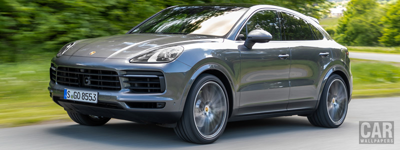 Обои автомобили Porsche Cayenne S Coupe (Quarzite Grey Metallic) - 2019 - Car wallpapers