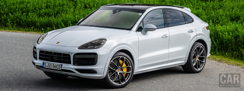 Обои автомобили Porsche Cayenne Turbo Coupe (Carrara White Metallic) - 2019 - Car wallpapers