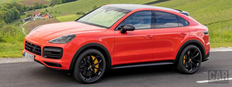 Обои автомобили Porsche Cayenne Turbo Coupe (Lava Orange) - 2019 - Car wallpapers