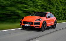 Обои автомобили Porsche Cayenne Turbo Coupe (Lava Orange) - 2019