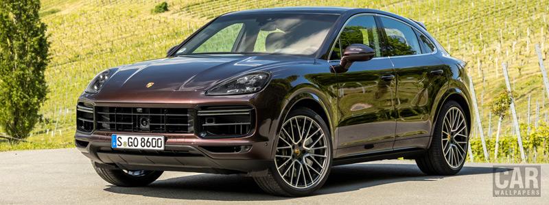 Обои автомобили Porsche Cayenne Turbo Coupe (Mahogany Metallic) - 2019 - Car wallpapers