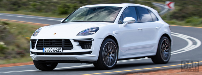 Обои автомобили Porsche Macan Turbo (Carrara White Metallic) - 2019 - Car wallpapers