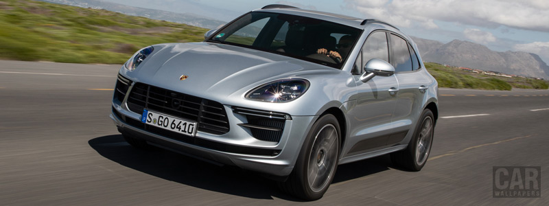 Обои автомобили Porsche Macan Turbo (Dolomite Silver Metallic) - 2019 - Car wallpapers