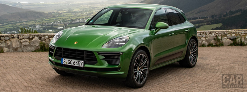 Обои автомобили Porsche Macan Turbo (Mamba Green Metallic) - 2019 - Car wallpapers