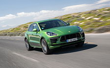 Обои автомобили Porsche Macan Turbo (Mamba Green Metallic) - 2019