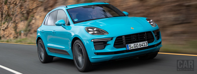 Обои автомобили Porsche Macan Turbo (Miami Blue) - 2019 - Car wallpapers