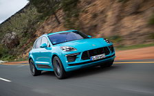 Обои автомобили Porsche Macan Turbo (Miami Blue) - 2019