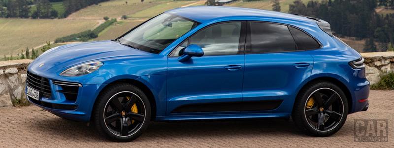 Обои автомобили Porsche Macan Turbo (Sapphire Blue Metallic) - 2019 - Car wallpapers