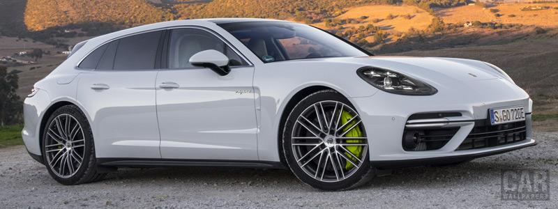 Обои автомобили Porsche Panamera Turbo S E-Hybrid Sport Turismo (Carrara White Metallic) - 2017 - Car wallpapers