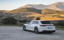 Обои автомобили Porsche Panamera Turbo S E-Hybrid Sport Turismo (Carrara White Metallic) - 2017