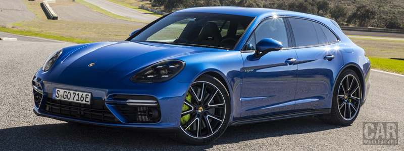 Обои автомобили Porsche Panamera Turbo S E-Hybrid Sport Turismo (Sapphire Blue Metallic) - 2017 - Car wallpapers