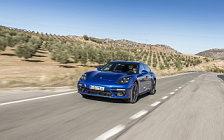 Обои автомобили Porsche Panamera Turbo S E-Hybrid Sport Turismo (Sapphire Blue Metallic) - 2017