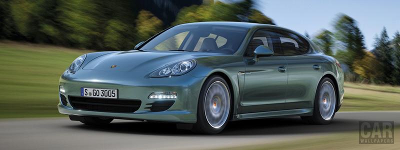 Обои автомобили Porsche Panamera Diesel - 2011 - Car wallpapers