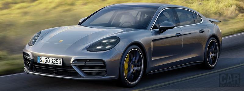 Обои автомобили Porsche Panamera Turbo Executive - 2017 - Car wallpapers